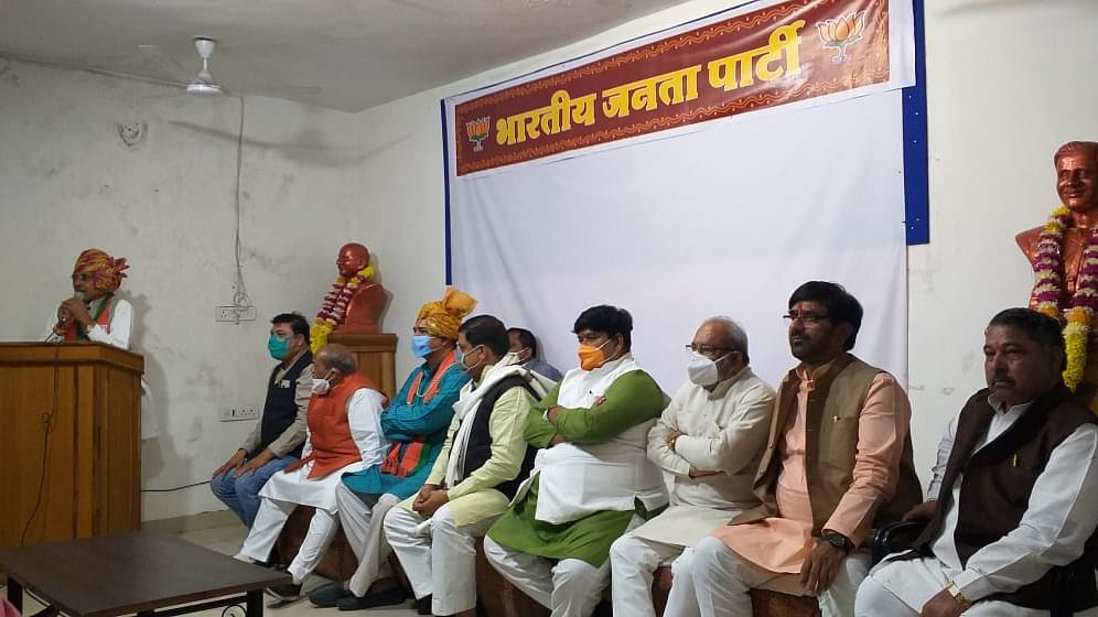 MP State Pilgrimage and Fair Development Authority chairman Makhan Singh Chouhan addressed felicitation programme