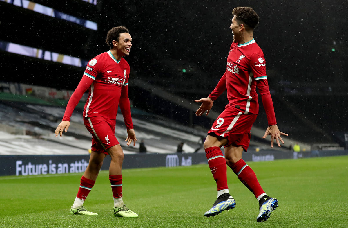 English Premier League: Liverpool revive title defense; End the 483-minute goal drought with a 3-1 win over Tottenham