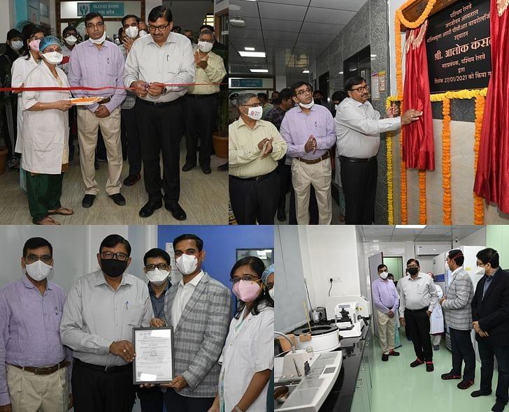 Alok Kansal – General Manager of Western Railway inaugurates Molecular RT-PCR facility at Jagjivan Ram Hospital