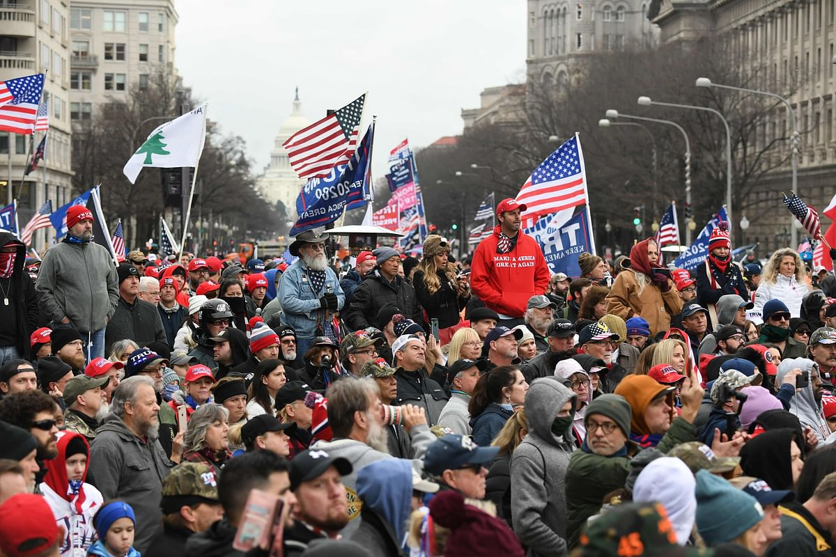President Donald Trump's supporters flood Washington to attend massive rally