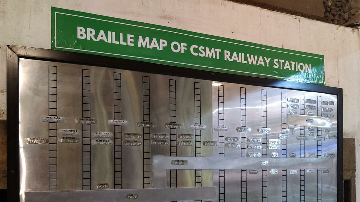 Mumbai: Central Railway introduces braille signages at various points at CSMT – see pics