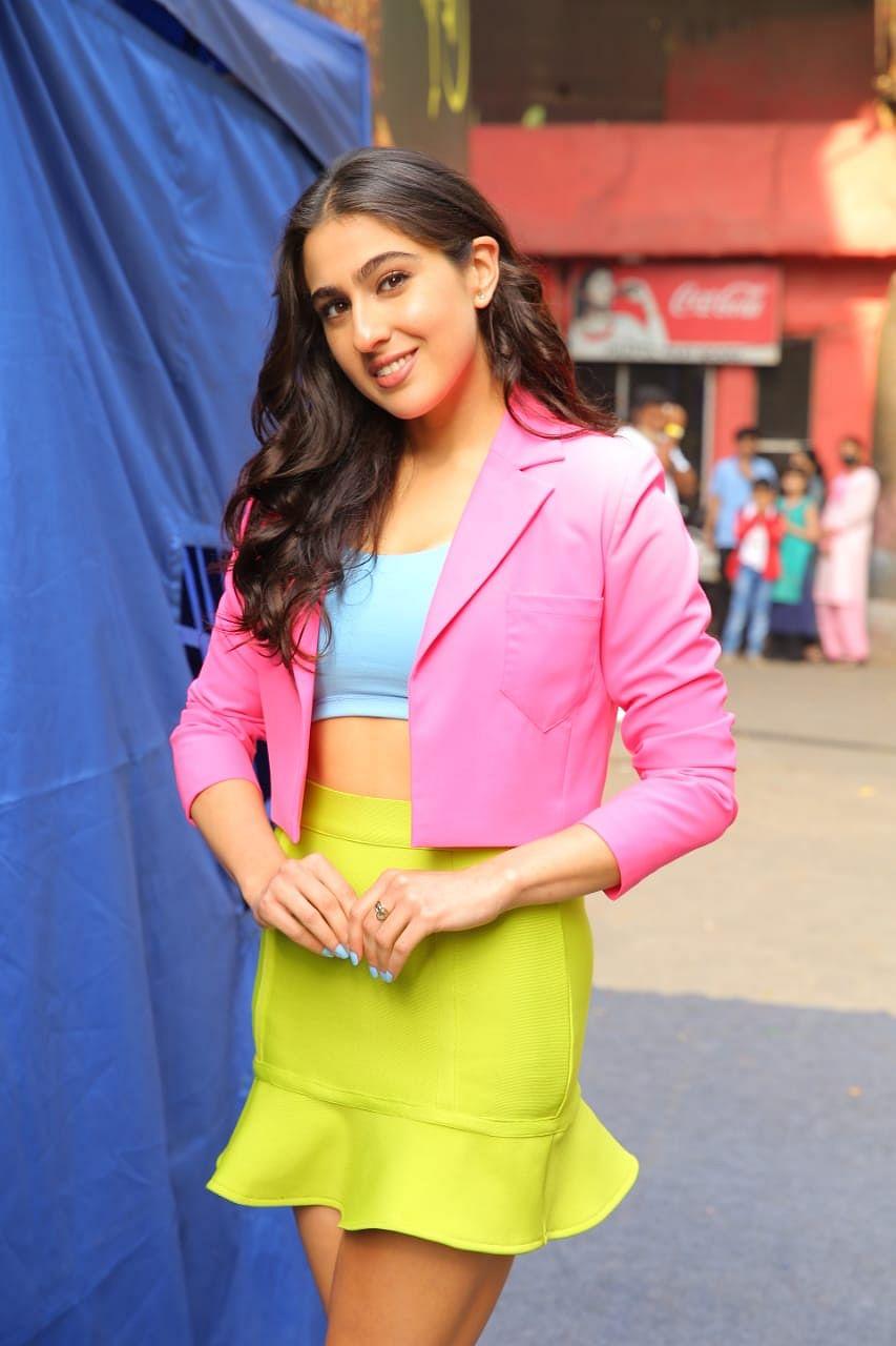 Sara Ali Khan snapped in FilmnCity