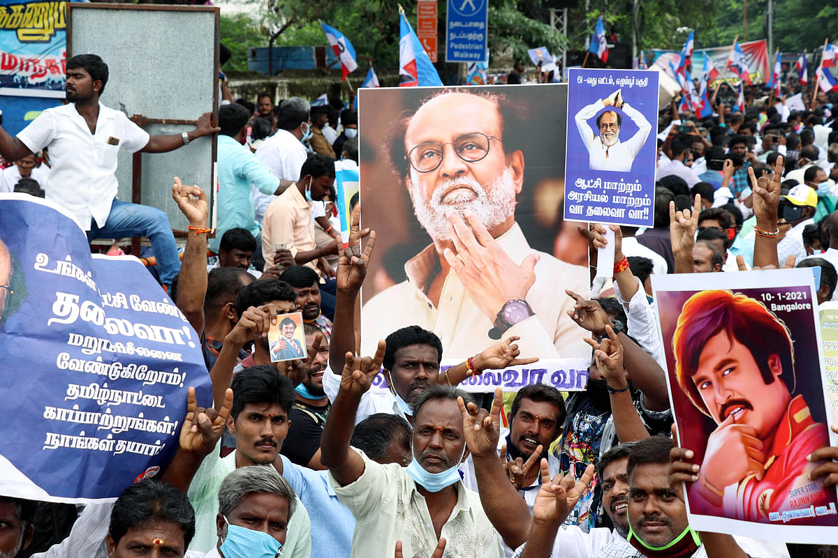 Tamil Nadu: Rajinikanth's fans assemble urging him to take political plunge