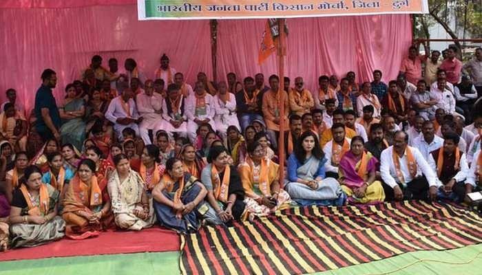 BJP protest for Chhattisgarh farmers