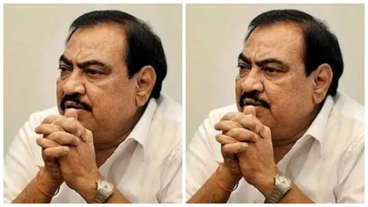 Mumbai: NCP leader Eknath Khadse appears before ED