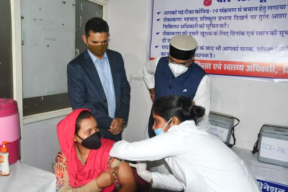 Dummy vaccination in Bhopal on Saturday