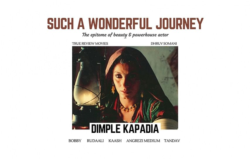 Dimple Kapadia: Such a wonderful journey!!