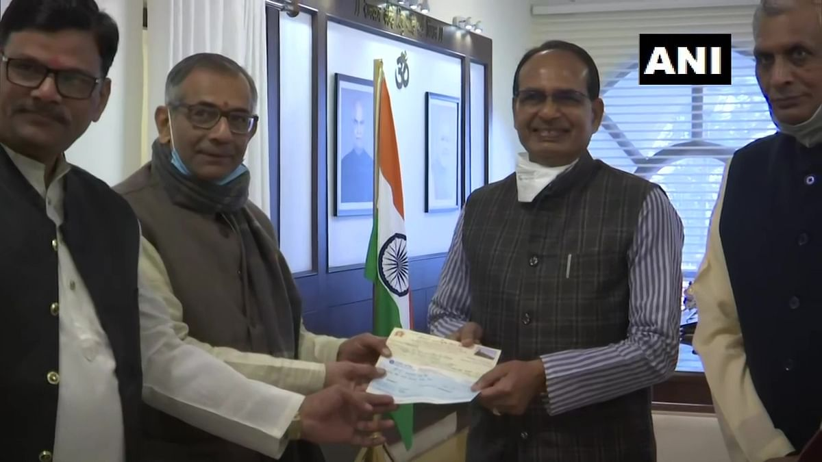 Madhya Pradesh: CM Shivraj Singh Chouhan donates Rs 1 lakh for Ayodhya Ram temple construction