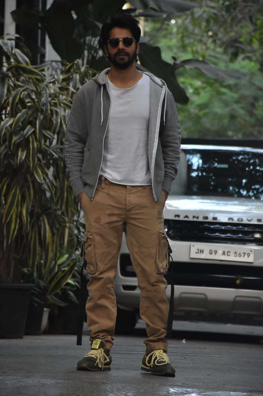 Varun Dhawan at Maddock films office