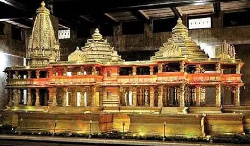 Model of Ram temple to be constructed in Ayodhya