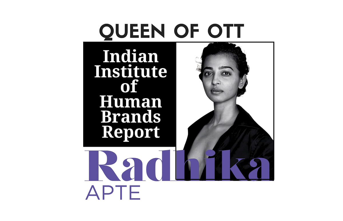 Radhika Apte outpaced all her competitors and peers in OTT to top the Indian Institute of Human Brands (IIHB) Report