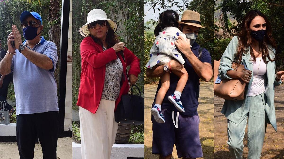 In Pics: Varun Dhawan's family arrives at the wedding venue in Alibaug