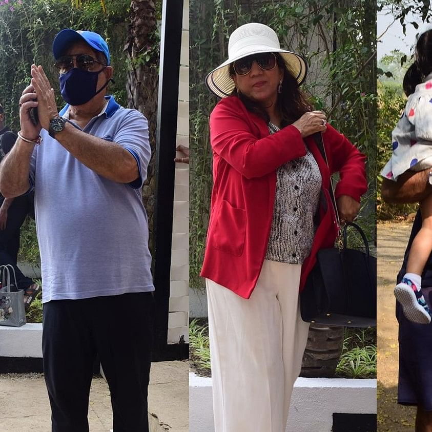 In Pics: Varun Dhawan's family arrives at the wedding venue in Alibaug