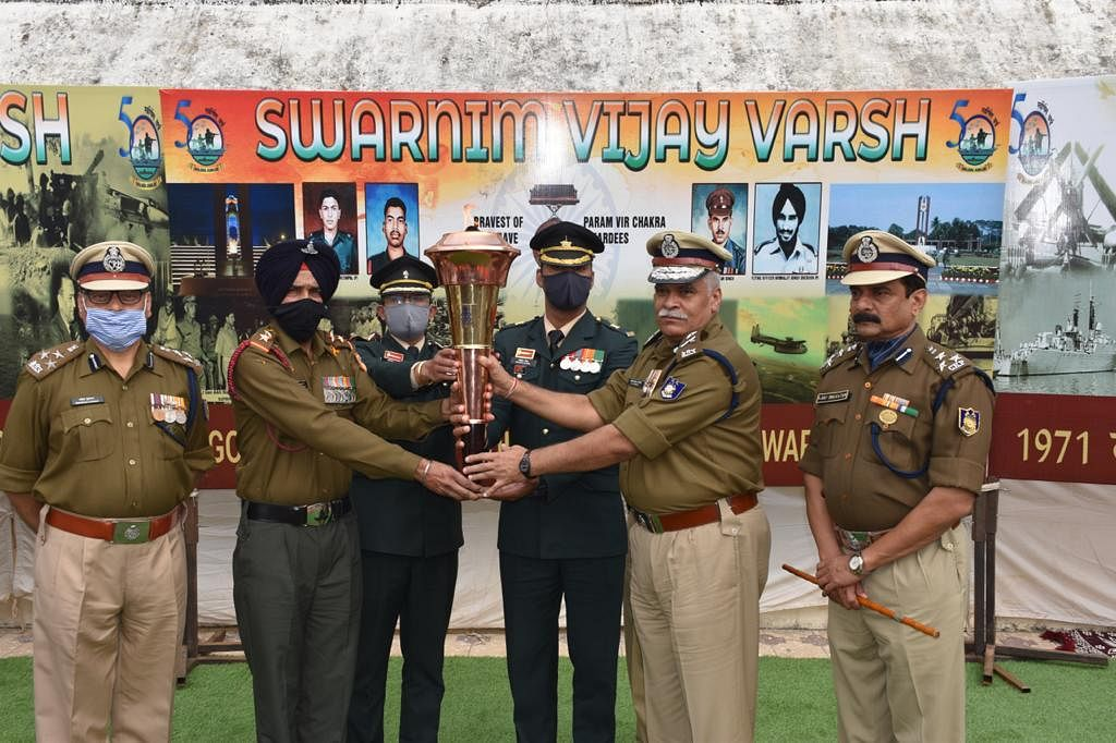 Victory flame at CRPF headquarters, Bhopal