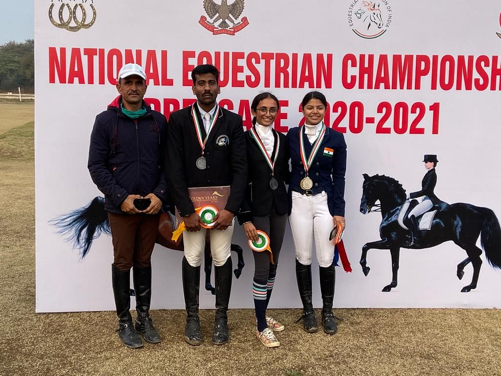 Bhopal: Medal tally 5 with 2 gold, 2 silver, 1 bronze in National Equestrian Championship
