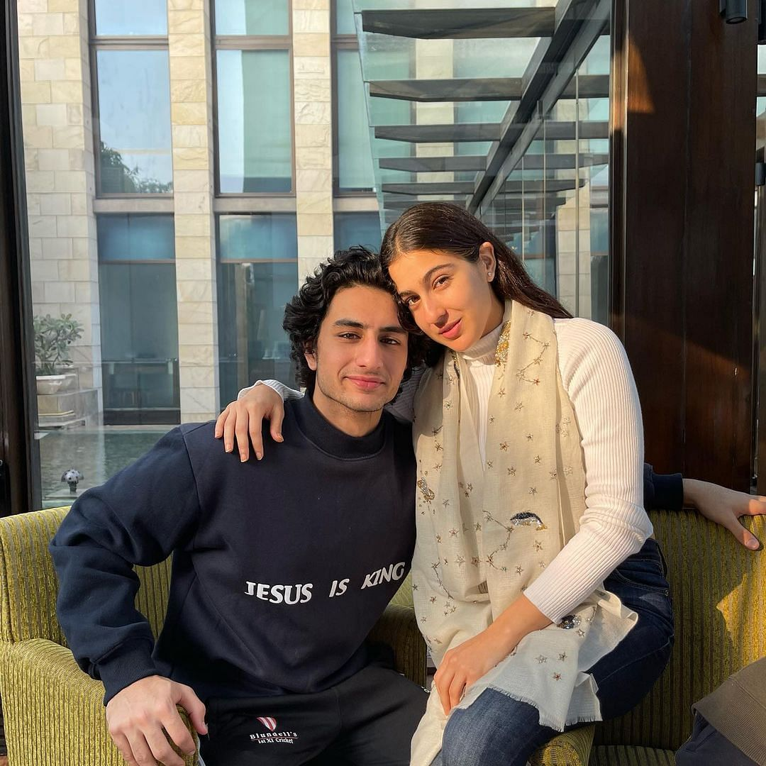Sara Ali Khan 'hugs and cuddles' brother Ibrahim, BFFs in first post of 2021; see pics