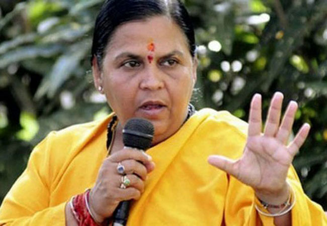 Uma Bharti joins liquor debate, demands prohibition in Madhya Pradesh
