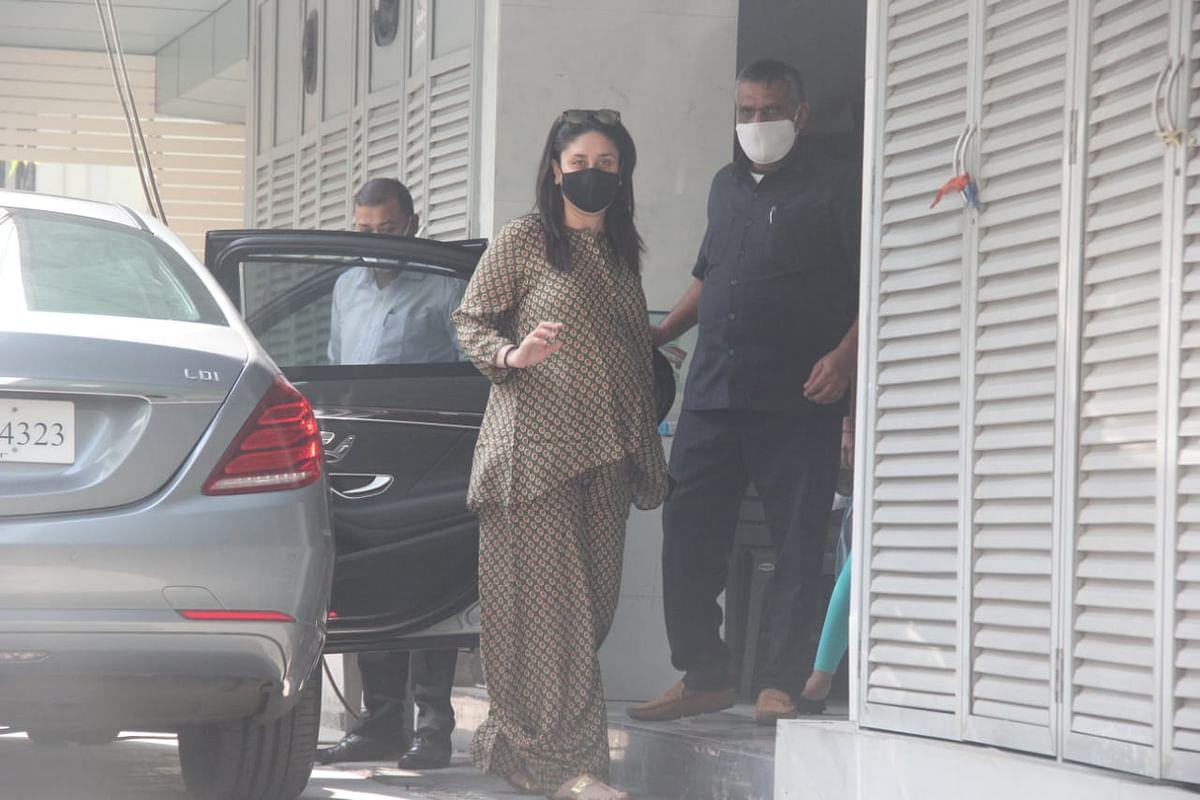 Kareena Kapoor at a clinic in Bandra