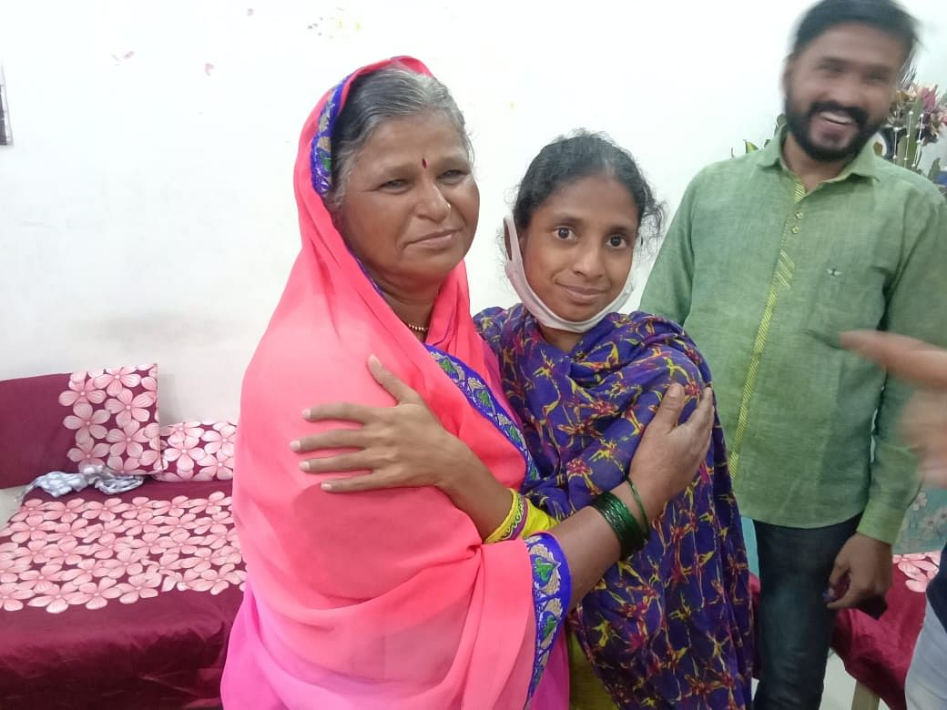 Geeta with her mother.