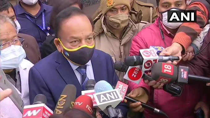 Harsh Vardhan reviews COVID-19 vaccine dry run at Delhi's GTB Hospital, urges people to not believe in rumours