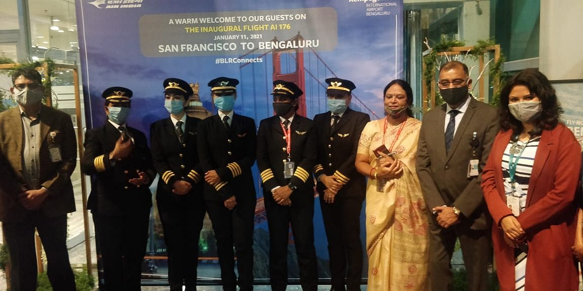 One for the books: Flown by 4 women pilots, Air India's longest direct flight lands in Bengaluru, scripts aviation history