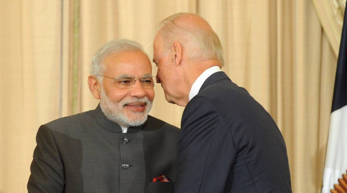 PM Modi with Joe Biden