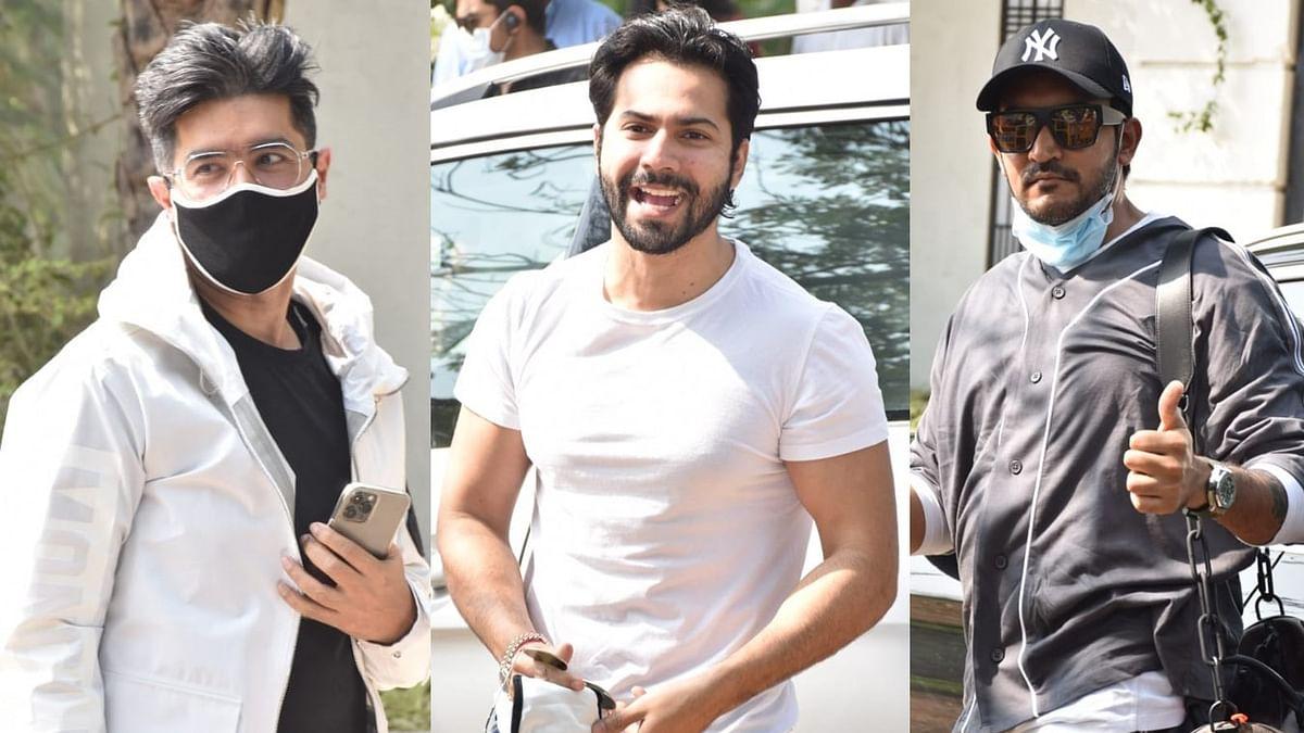 In Pics: Varun Dhawan arrives at Sangeet venue, designer Manish Malhotra, director Shashank Khaitan spotted too