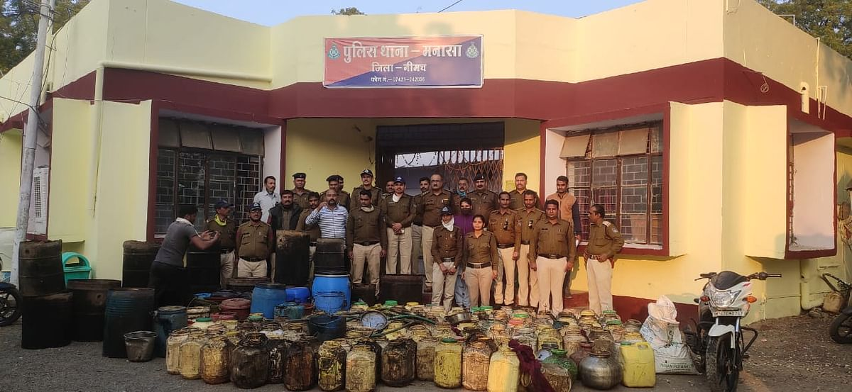 Madhya Pradesh: 450 litres of raw liquor, equipment worth Rs 11.50 lakh seized in Neemuch district, one held