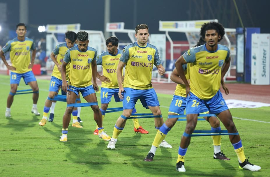 Kerala Blasters during the workout
