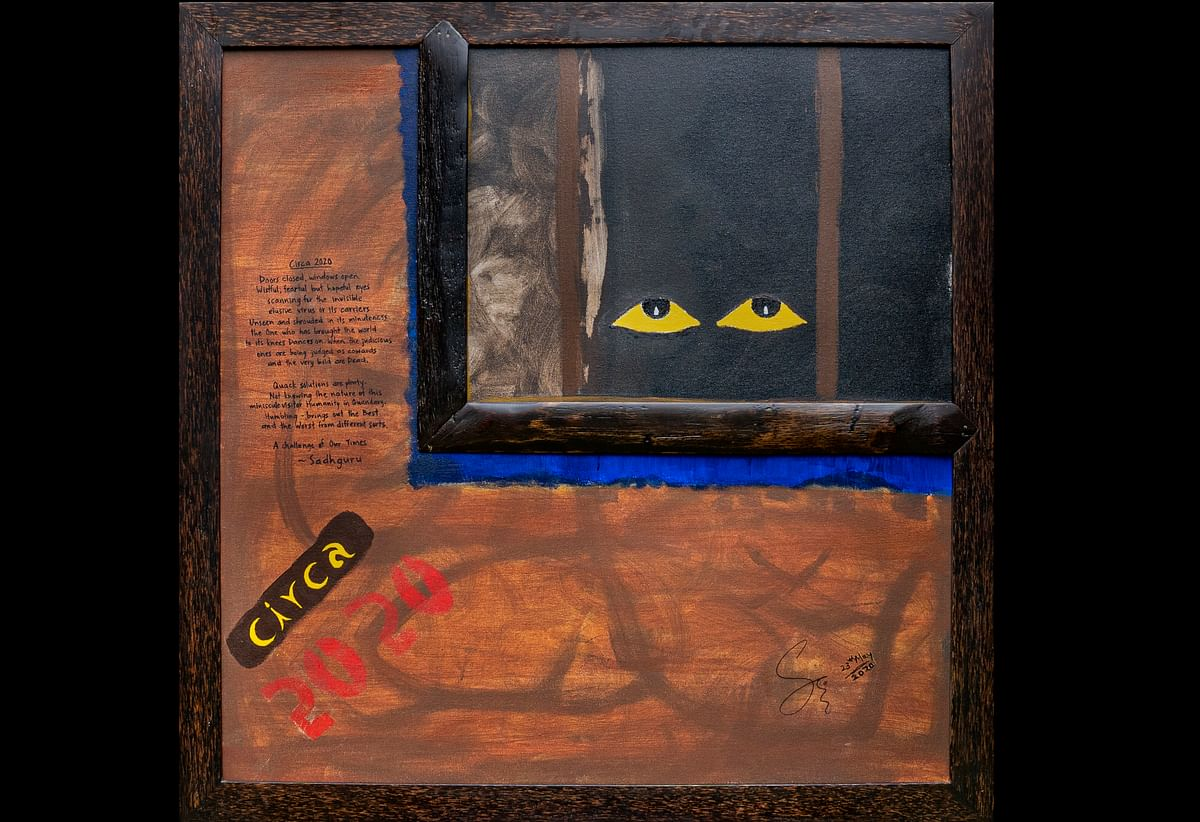 Sadhguru's third painting 'Circa 2020' auctioned for Rs 2.3 cr; proceeds to go for Isha Foundation's COVID-19 relief