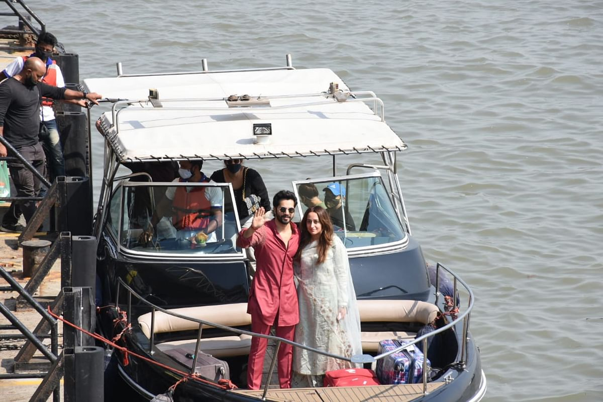 In Pics: Varun Dhawan and Natasha Dalal back in the bay after tying the knot in Alibaug