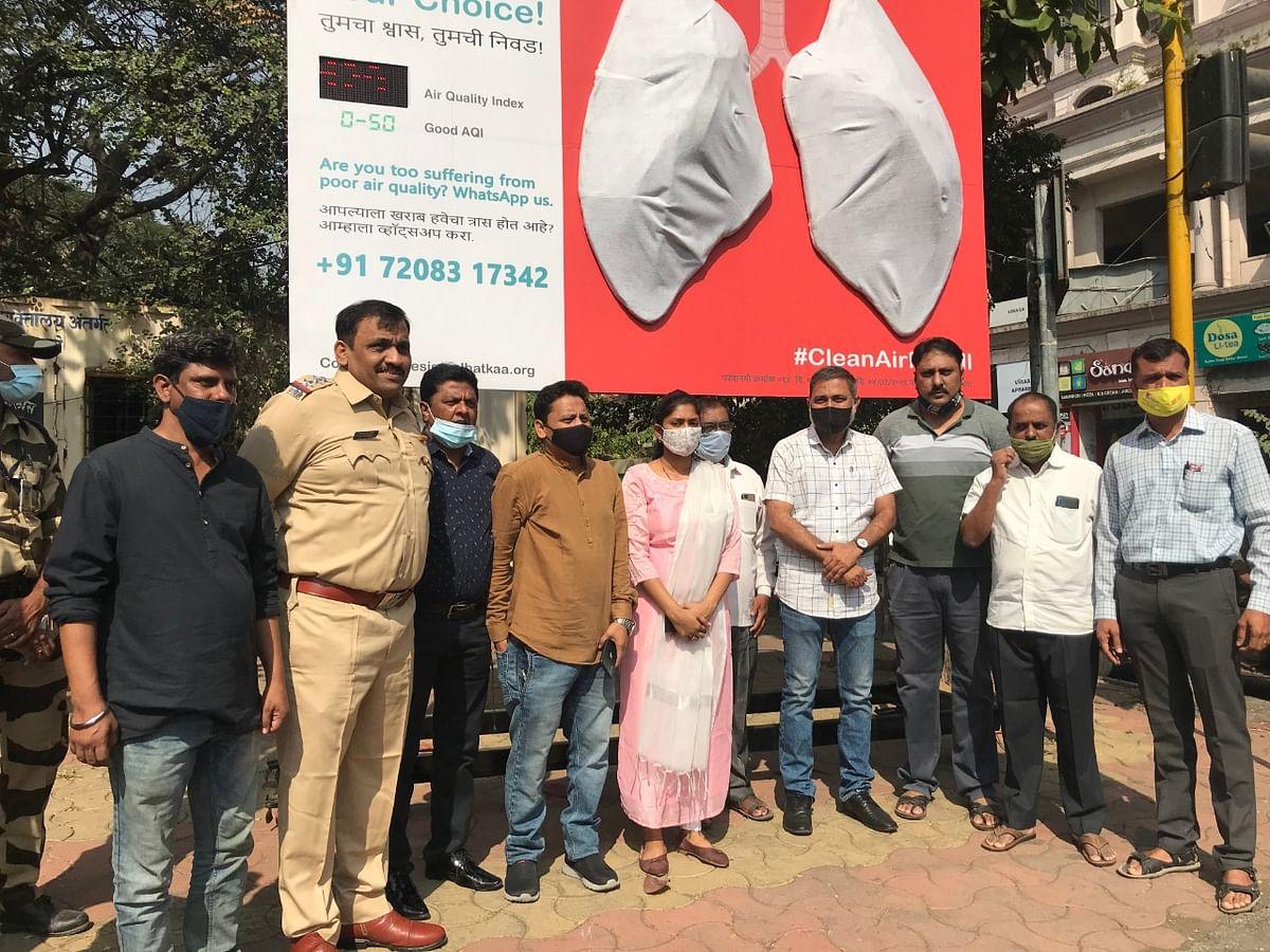 Navi Mumbai: Waatavaran installs giant lungs in Kharghar to raise awareness about air pollution