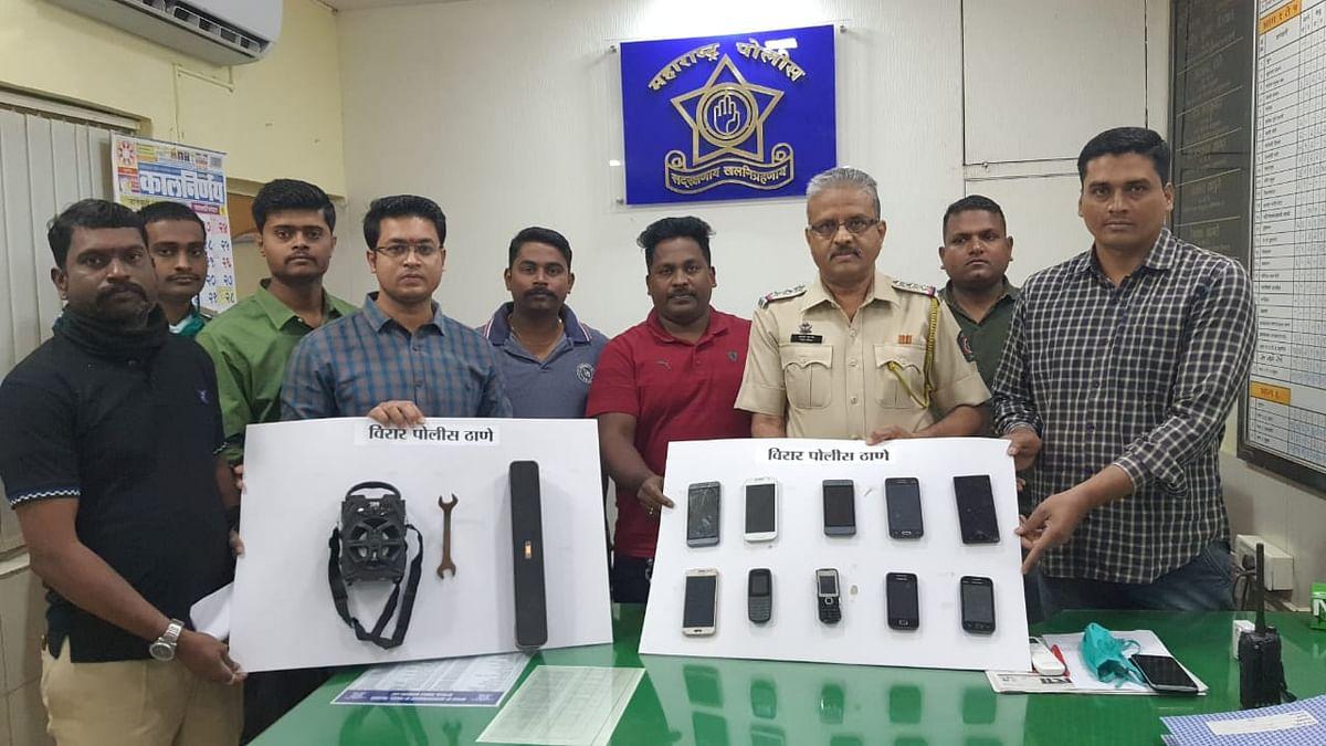 Virar Police nab notorious mobile thief