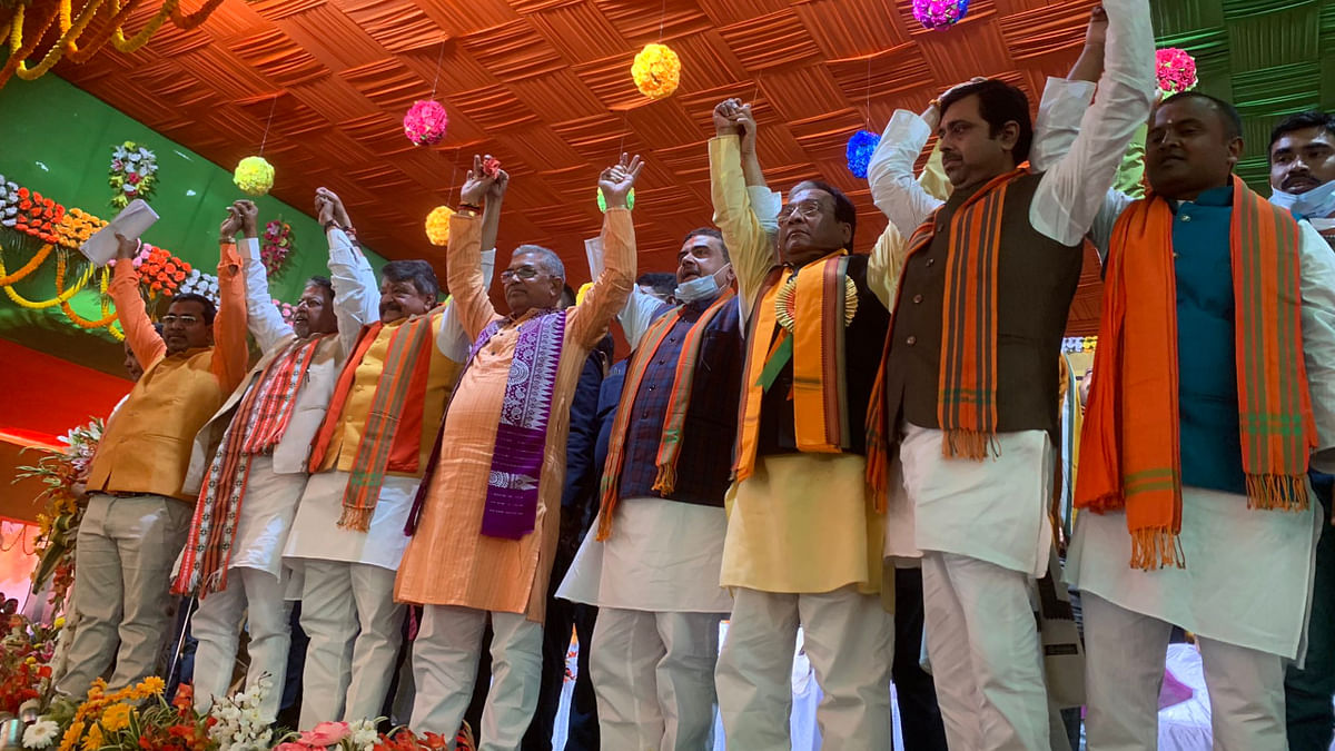 An image from the BJP mega-rally held in Nandigram today