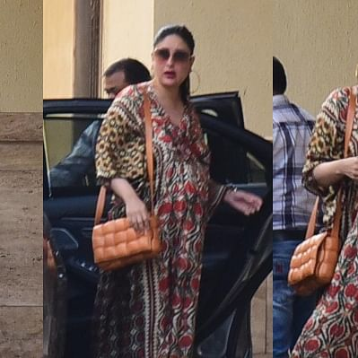 In Pics: Kareena Kapoor Khan once again stuns in a kaftan dress as she arrives for BFF Amrita Arora's birthday bash
