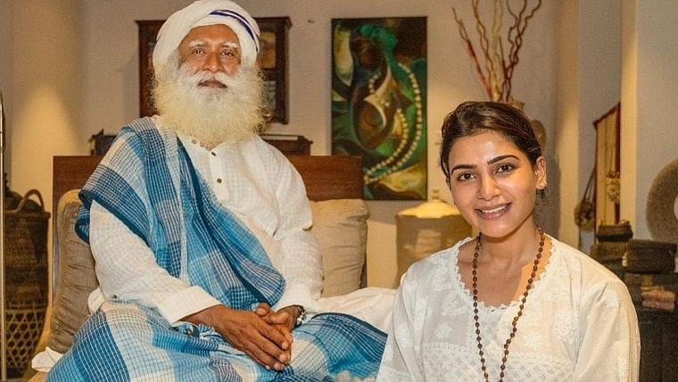 Sadhguru with Samantha Prabhu Akkineni