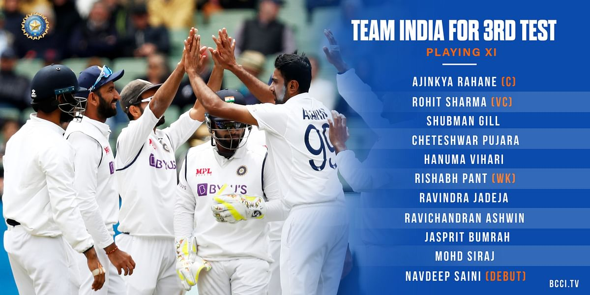 Ind vs Aus 3rd Test: Rohit Sharma returns, Navdeep Saini to make debut - check out playing XI