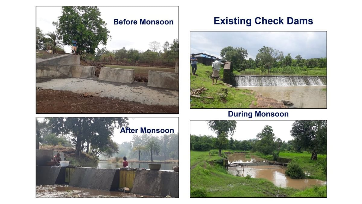 Construction of rain check dams by Rotary District 3141 prove a boon for farmers in Palghar district