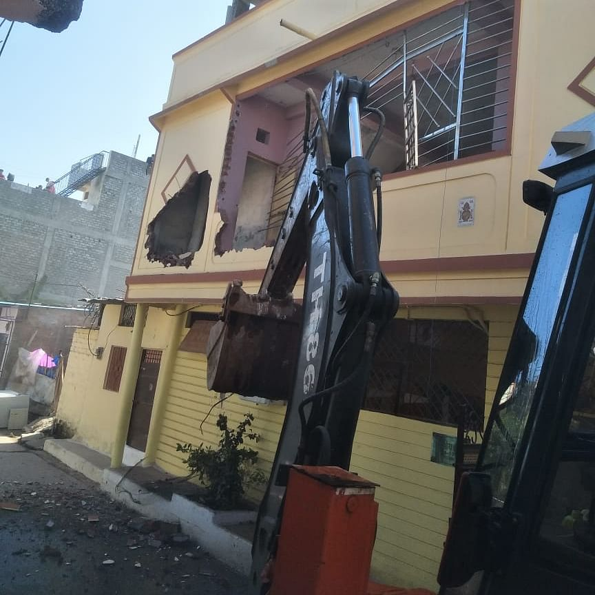 Three-storey building of criminal facing 72 cases demolished in Bhopal