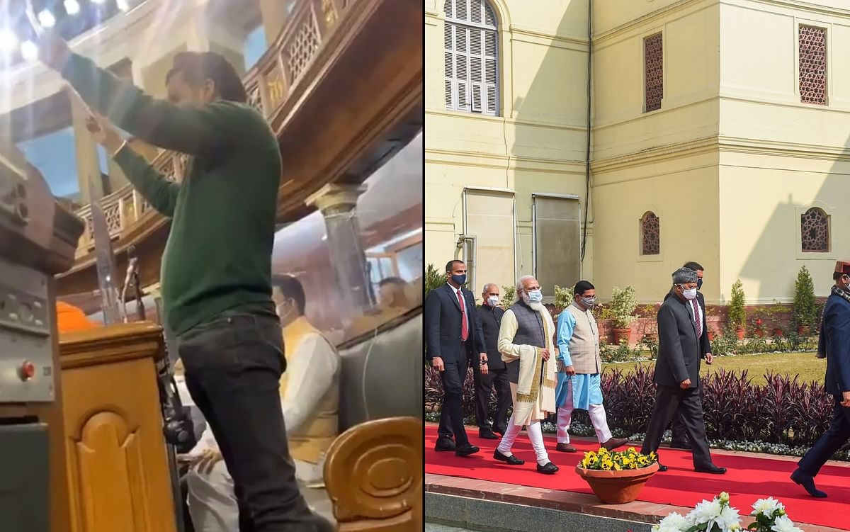 Walkouts, placards and more: Ruckus in Parliament amid Prez Kovind's address as Opposition parties extend support to protesting farmers