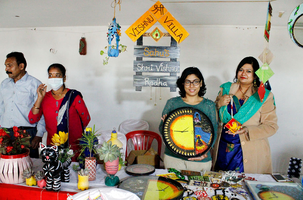Exhibition organised in Bhopal on Tuesday
