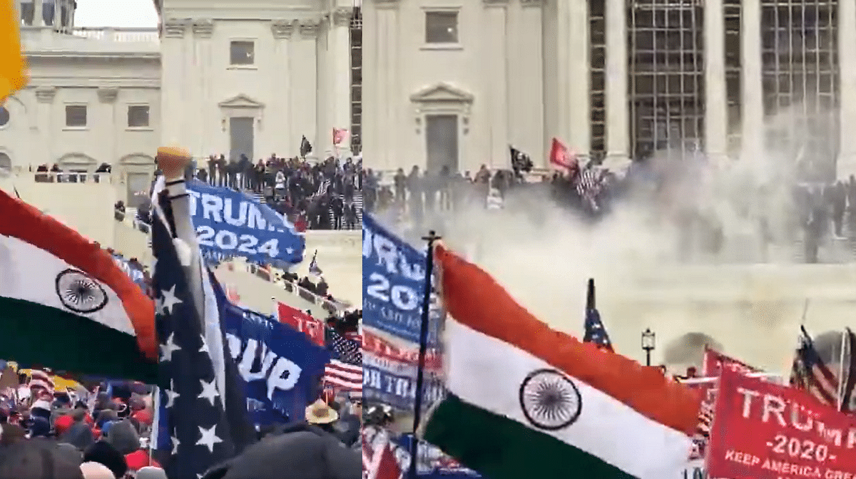 Indian tricolour spotted in sea of flags as Trump protesters storm US Capitol