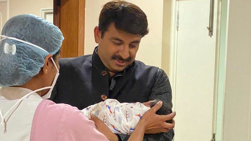 BJP MP Manoj Tiwari, 49, blessed with a baby girl, see pic