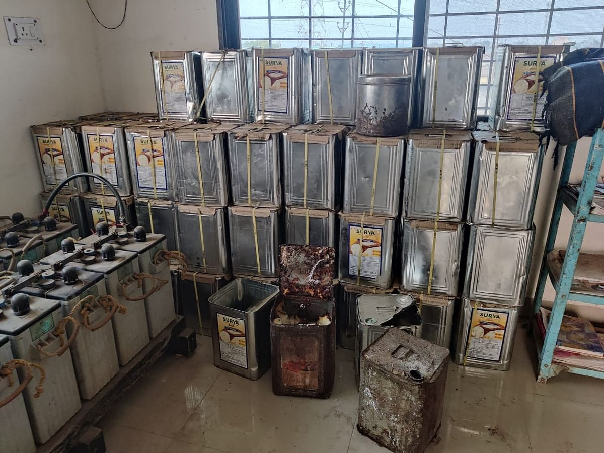 KHANDWA: Over 1,300 kilograms of ingredients used in making spurious ghee seized, factory sealed in Chhirkhel village, 4 arrested