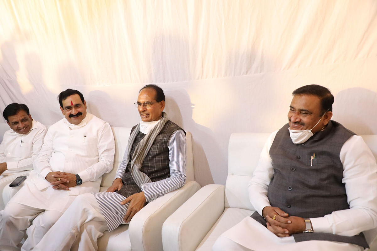 Madhya Pradesh Cabinet meets at Home Minister Narottam Mishra's house