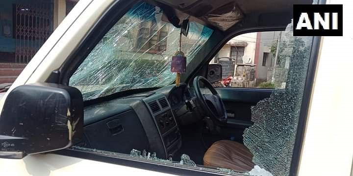 Tripura Congress President Pijush Kanti Biswas' vehicle attacked allegedly by BJP workers