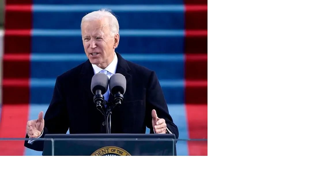 the 46th US president , Joe Biden, undertook to heal wounds, restore calm and order
