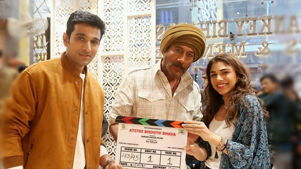 Atithi Bhooto Bhava: Shoot begins for Pratik Gandhi, Jackie Shroff, Sharmin Segal's upcoming film