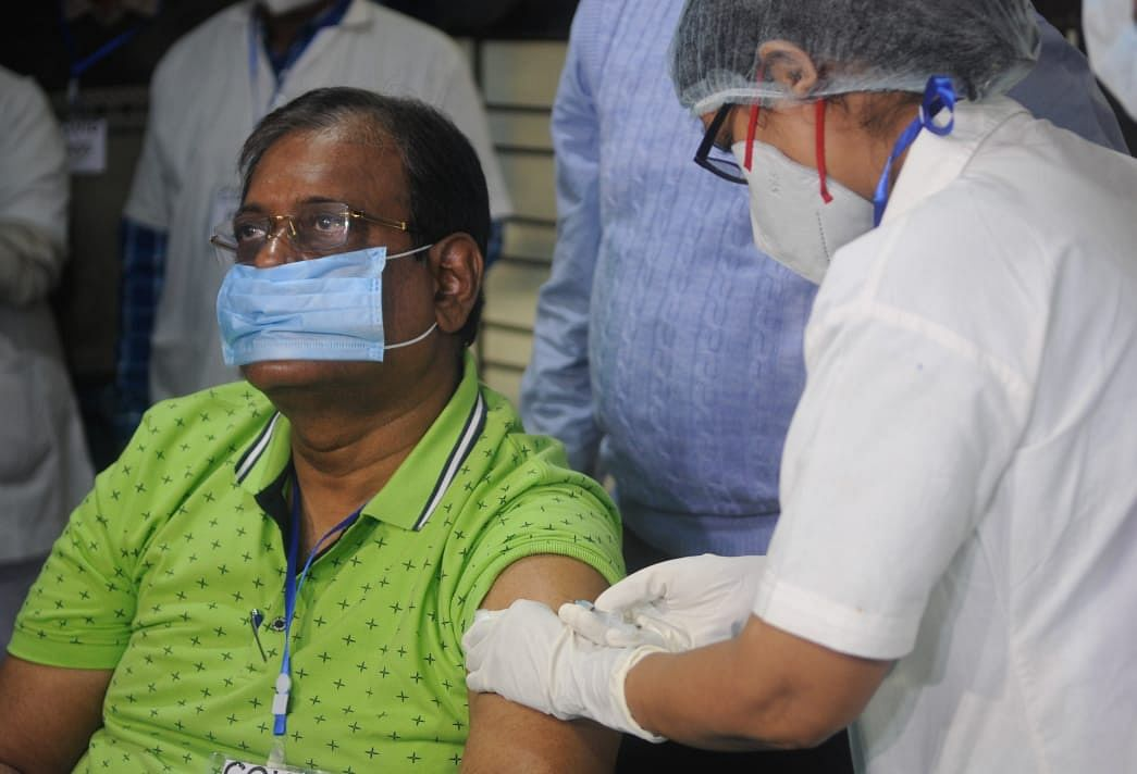 COVID-19 vaccination drive: Bengal Minister Nirmal Maji takes vaccine shot, vouches for Covishield