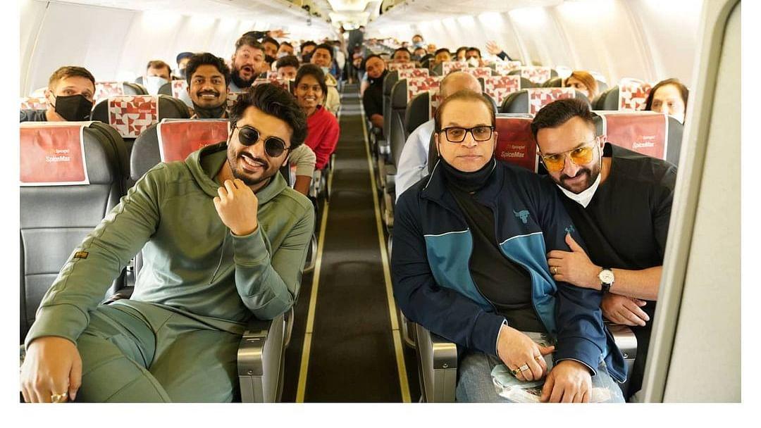 Saif Ali Khan, Arjun Kapoor head to Jaisalmer for final schedule of 'Bhoot Police'